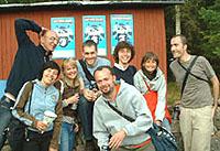 Emmaboda 2004: foto di gruppo con Fabio+Flavia, Åse+Ant, Giovanni, ebi+ellegi, Lucio