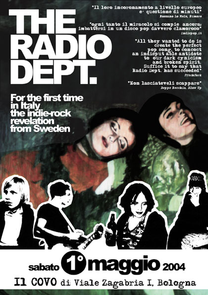The Radio Dept. live at Covo, Bologna 1 maggio 2004!