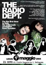 Radio Dept. live in Bologna, 1 maggio 2004 - il nostro flyer
