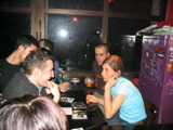 Radio Dept. live in Bologna, 1 maggio 2004 - scenesters al banchetto del merchandising