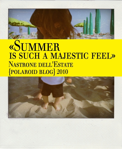 Summer is such a majestic feel - Il nastrone di polaroid per l'estate 2010